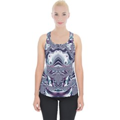 Pattern Fractal Art Artwork Design Piece Up Tank Top by Simbadda
