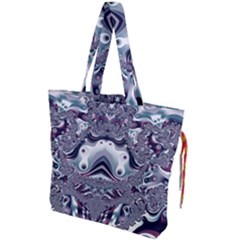 Pattern Fractal Art Artwork Design Drawstring Tote Bag