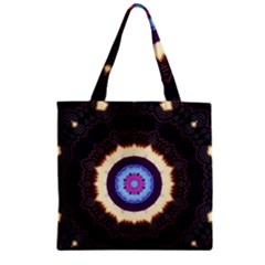 Mandala Art Design Pattern Zipper Grocery Tote Bag by Simbadda