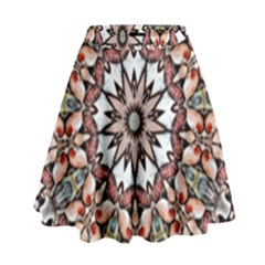 Abstract Art Texture Mandala High Waist Skirt