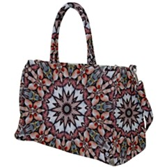 Abstract Art Texture Mandala Duffel Travel Bag by Simbadda