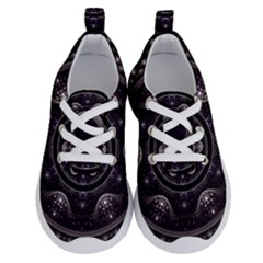 Fractal Mandala Circles Purple Running Shoes by Simbadda