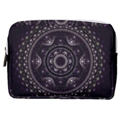 Fractal Mandala Circles Purple Make Up Pouch (medium) by Simbadda