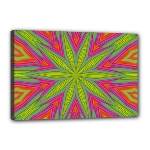 Pattern Art Abstract Art Abstract Background Canvas 18  X 12  (stretched)