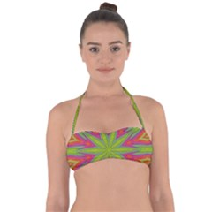 Pattern Art Abstract Art Abstract Background Halter Bandeau Bikini Top