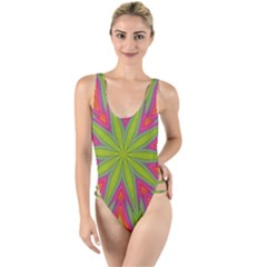 Pattern Art Abstract Art Abstract Background High Leg Strappy Swimsuit