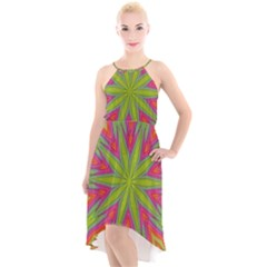 Pattern Art Abstract Art Abstract Background High Low Halter Chiffon Dress