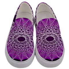 Mandala Mallow Circle Abstract Men s Canvas Slip Ons