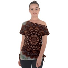 Abstract Art Texture Mandala Tie Up Tee