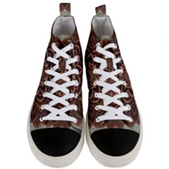 Abstract Art Texture Mandala Men s Mid Top Canvas Sneakers
