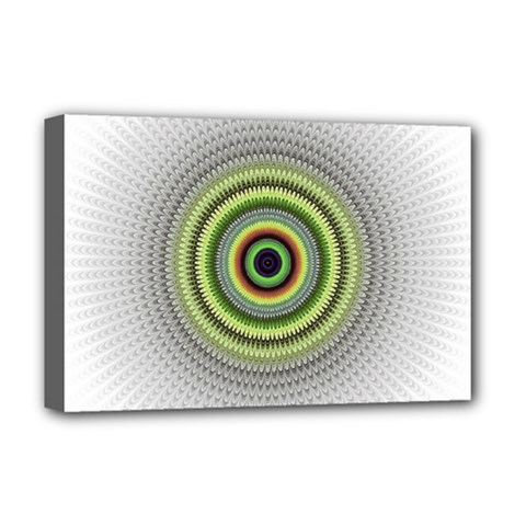 Fractal Mandala White Background Deluxe Canvas 18  X 12  (stretched)