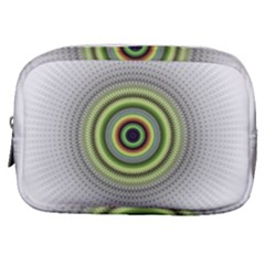 Fractal Mandala White Background Make Up Pouch (small) by Simbadda
