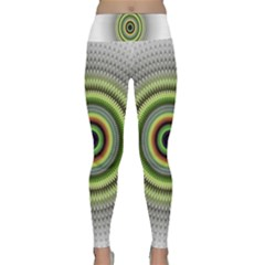 Fractal Mandala White Background Lightweight Velour Classic Yoga Leggings