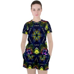 Chakra Art Healing Mandala Women s Tee And Shorts Set