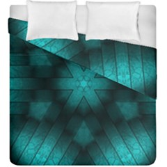 Abstract Pattern Black Green Duvet Cover Double Side (king Size)