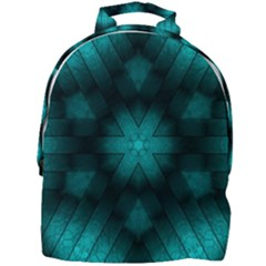 Abstract Pattern Black Green Mini Full Print Backpack