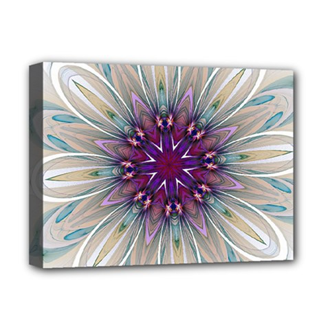 Mandala Kaleidoscope Ornament Deluxe Canvas 16  X 12  (stretched)  by Simbadda