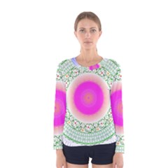 Flower Abstract Floral Women s Long Sleeve Tee