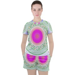 Flower Abstract Floral Women s Tee And Shorts Set by Simbadda