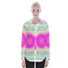 Flower Abstract Floral Womens Long Sleeve Shirt