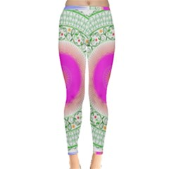 Flower Abstract Floral Inside Out Leggings by Simbadda