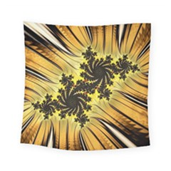 Fractal Art Colorful Pattern Square Tapestry (small) by Simbadda