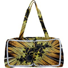 Fractal Art Colorful Pattern Multi Function Bag