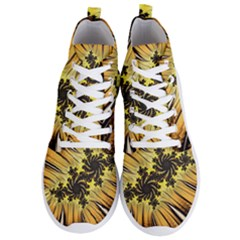 Fractal Art Colorful Pattern Men s Lightweight High Top Sneakers by Simbadda
