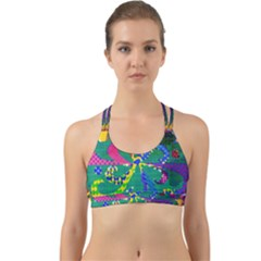 Mandala Abstract Background Image Back Web Sports Bra