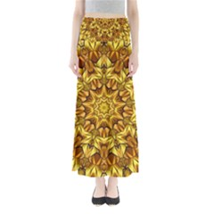 Abstract Antique Art Background Full Length Maxi Skirt