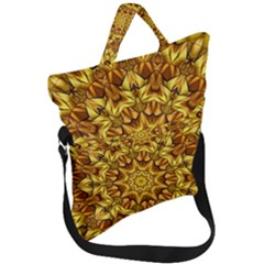 Abstract Antique Art Background Fold Over Handle Tote Bag by Simbadda