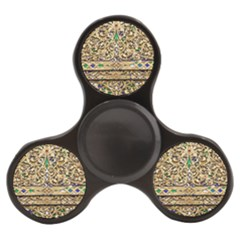 Gold Pattern Decoration Golden Finger Spinner by Simbadda