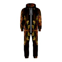 Fractal Floral Mandala Abstract Hooded Jumpsuit (kids)