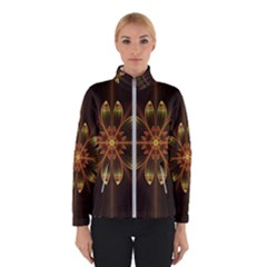Fractal Floral Mandala Abstract Winter Jacket