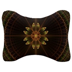 Fractal Floral Mandala Abstract Velour Seat Head Rest Cushion