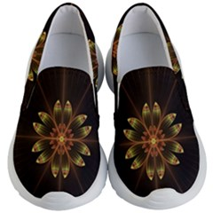 Fractal Floral Mandala Abstract Kid s Lightweight Slip Ons by Simbadda