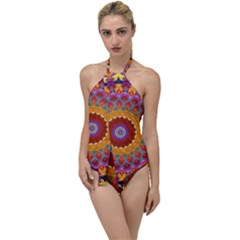 Fractal Kaleidoscope Mandala Go With The Flow One Piece Swimsuit