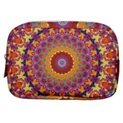 Fractal Kaleidoscope Mandala Make Up Pouch (small) by Simbadda