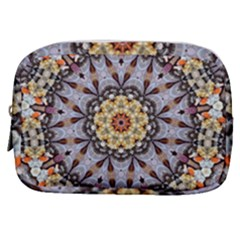 Abstract Art Texture Mandala Make Up Pouch (small) by Simbadda