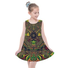 Fractal Art Artwork Design Kids  Summer Dress