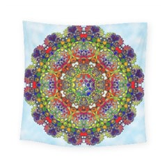 Mandala Pattern Ornaments Structure Square Tapestry (small) by Simbadda