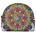 Mandala Pattern Ornaments Structure Horseshoe Style Canvas Pouch View1