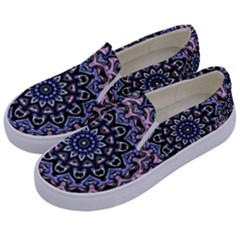 Background Kaleidoscope Abstract Kids  Canvas Slip Ons by Simbadda