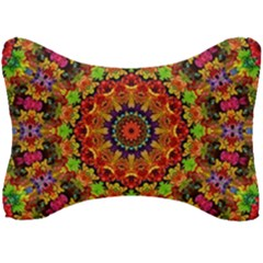Fractal Mandala Flowers Seat Head Rest Cushion by Simbadda
