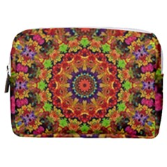 Fractal Mandala Flowers Make Up Pouch (medium) by Simbadda