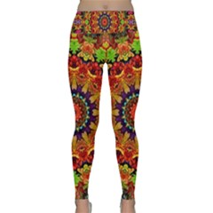 Fractal Mandala Flowers Lightweight Velour Classic Yoga Leggings