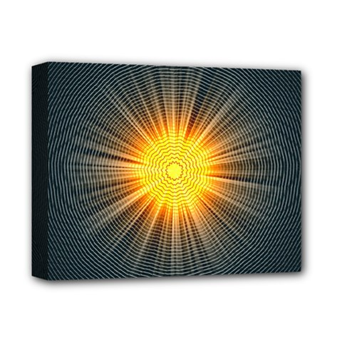 Background Mandala Sun Rays Deluxe Canvas 14  X 11  (stretched)