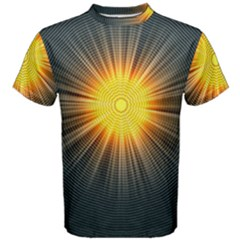 Background Mandala Sun Rays Men s Cotton Tee