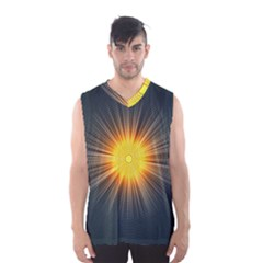 Background Mandala Sun Rays Men s Basketball Tank Top
