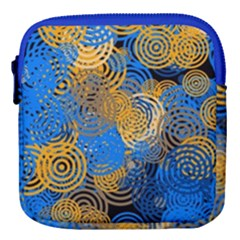 Circle Rings Abstract Optics Mini Square Pouch by Simbadda